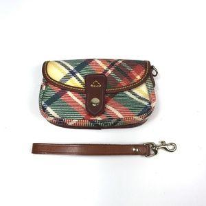 Women's Plaid Wristlet Handbag Pouch